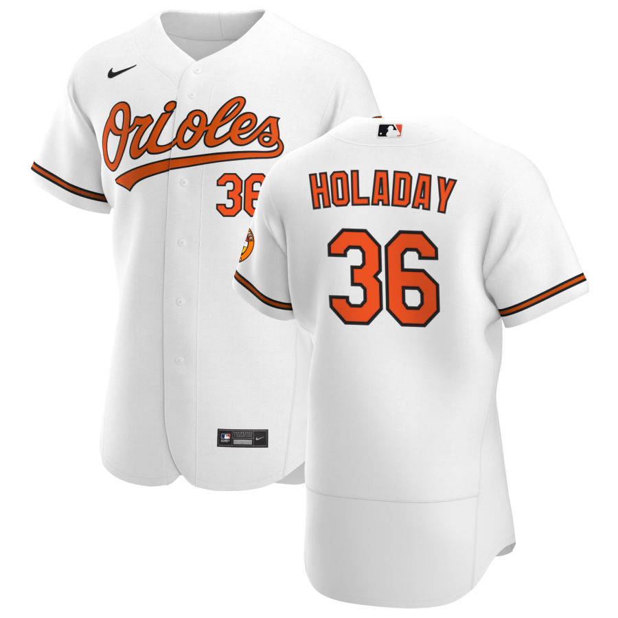 Wholesale Baltimore Orioles 36 Bryan Holaday Men Nike White Home 2020 Authentic Player MLB Jersey