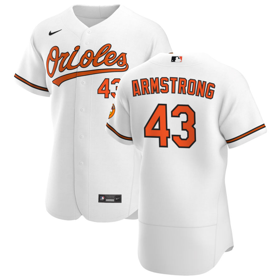Wholesale Baltimore Orioles 43 Shawn Armstrong Men Nike White Home 2020 Authentic Player MLB Jersey