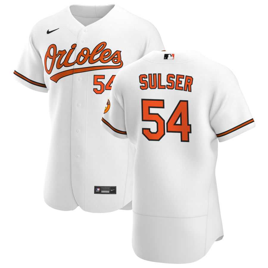 Wholesale Baltimore Orioles 54 Cole Sulser Men Nike White Home 2020 Authentic Player MLB Jersey