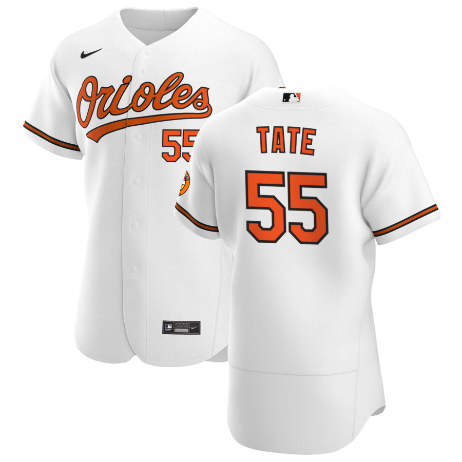 Wholesale Baltimore Orioles 55 Dillon Tate Men Nike White Home 2020 Authentic Player MLB Jersey