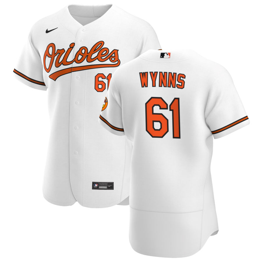 Wholesale Baltimore Orioles 61 Austin Wynns Men Nike White Home 2020 Authentic Player MLB Jersey