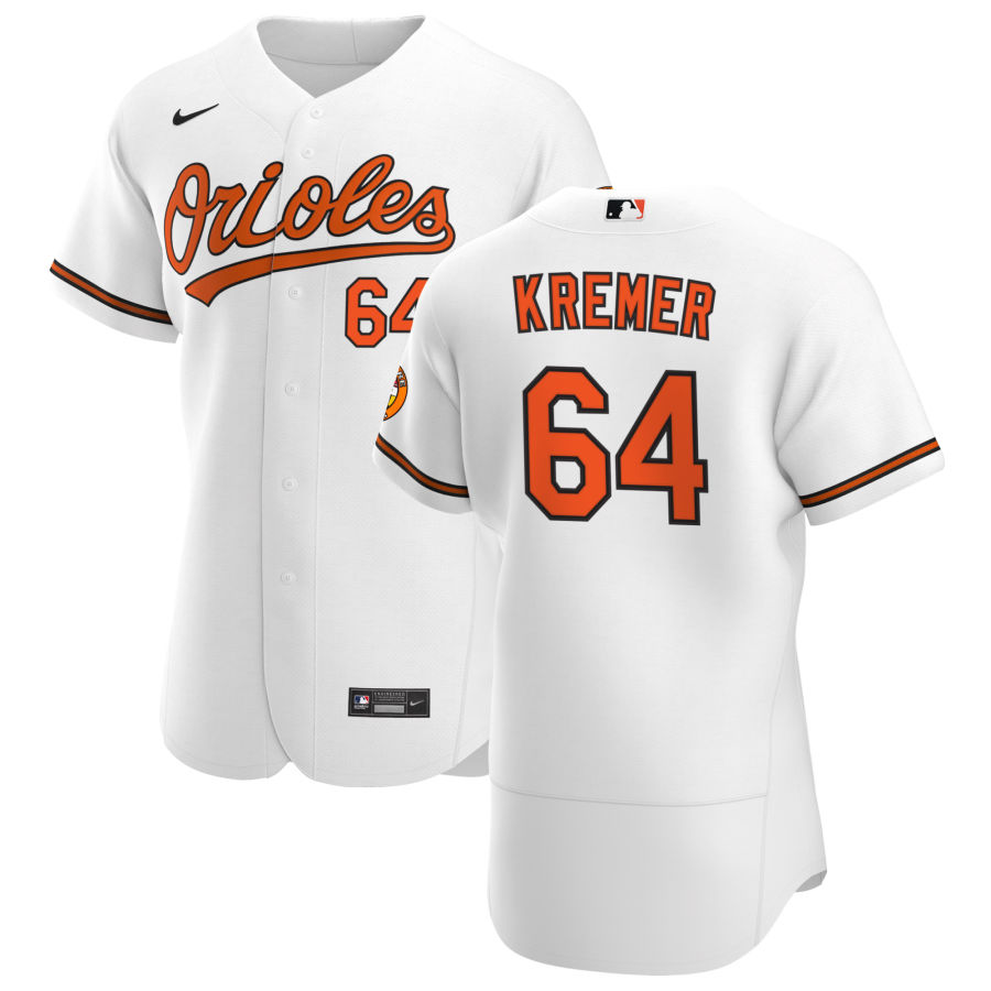 Wholesale Baltimore Orioles 64 Dean Kremer Men Nike White Home 2020 Authentic Player MLB Jersey