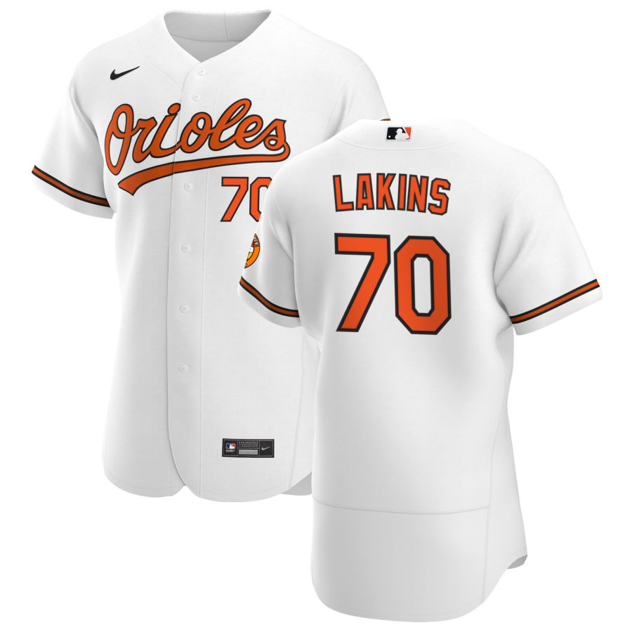 Wholesale Baltimore Orioles 70 Travis Lakins Sr. Men Nike White Home 2020 Authentic Player MLB Jersey