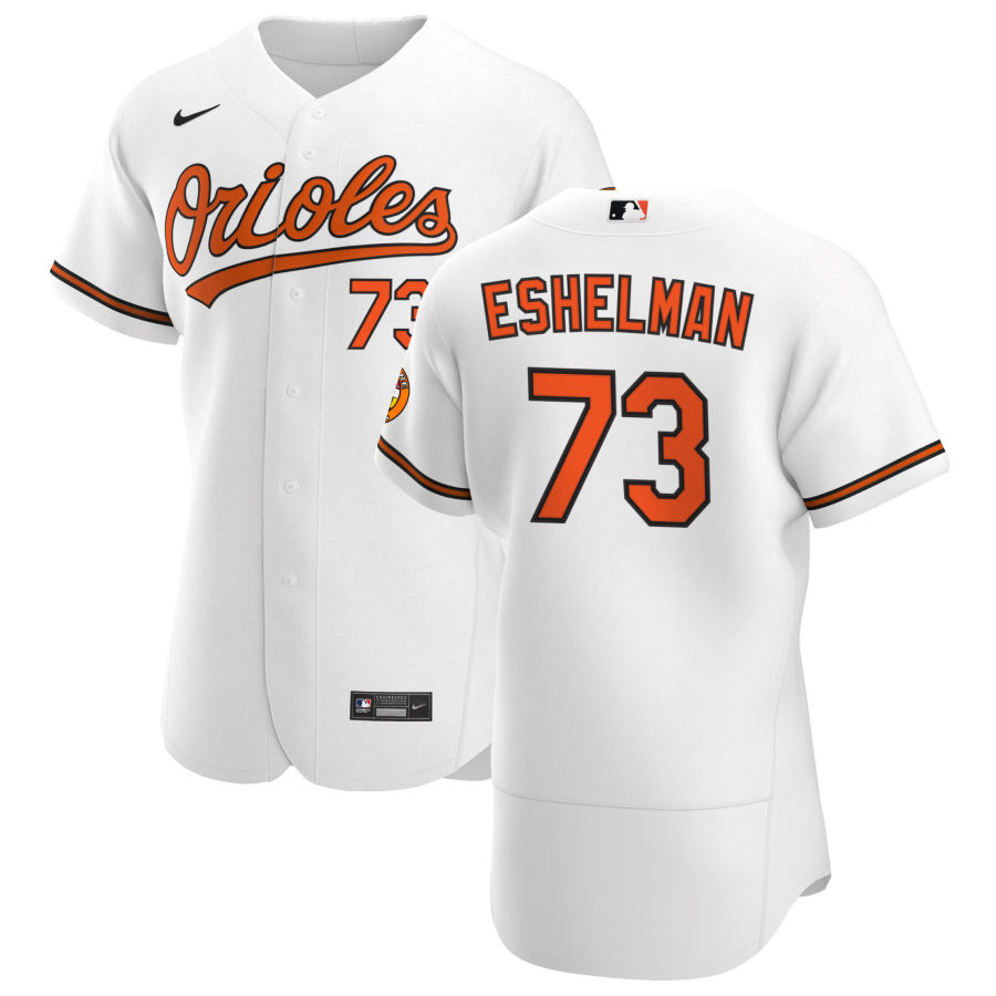 Wholesale Baltimore Orioles 73 Thomas Eshelman Men Nike White Home 2020 Authentic Player MLB Jersey