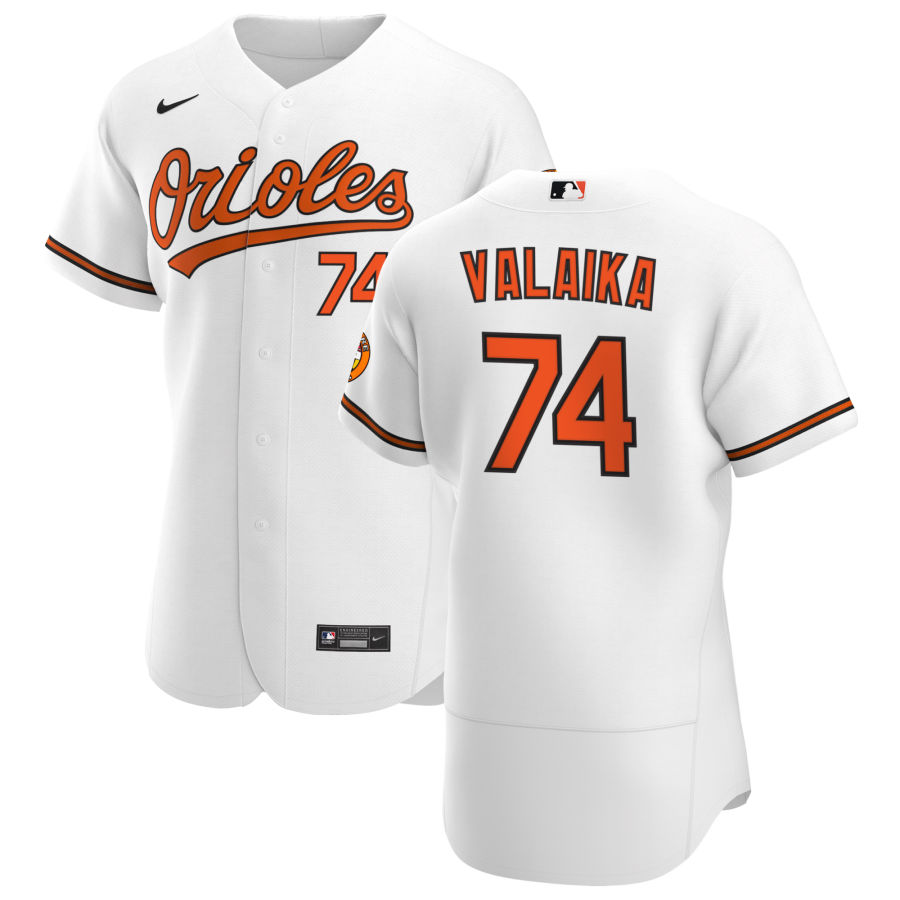 Wholesale Baltimore Orioles 74 Pat Valaika Men Nike White Home 2020 Authentic Player MLB Jersey