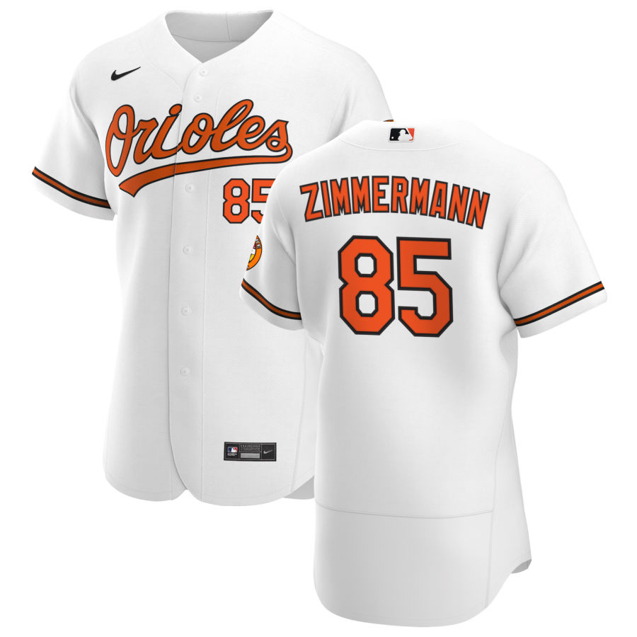 Wholesale Baltimore Orioles 85 Bruce Zimmermann Men Nike White Home 2020 Authentic Player MLB Jersey