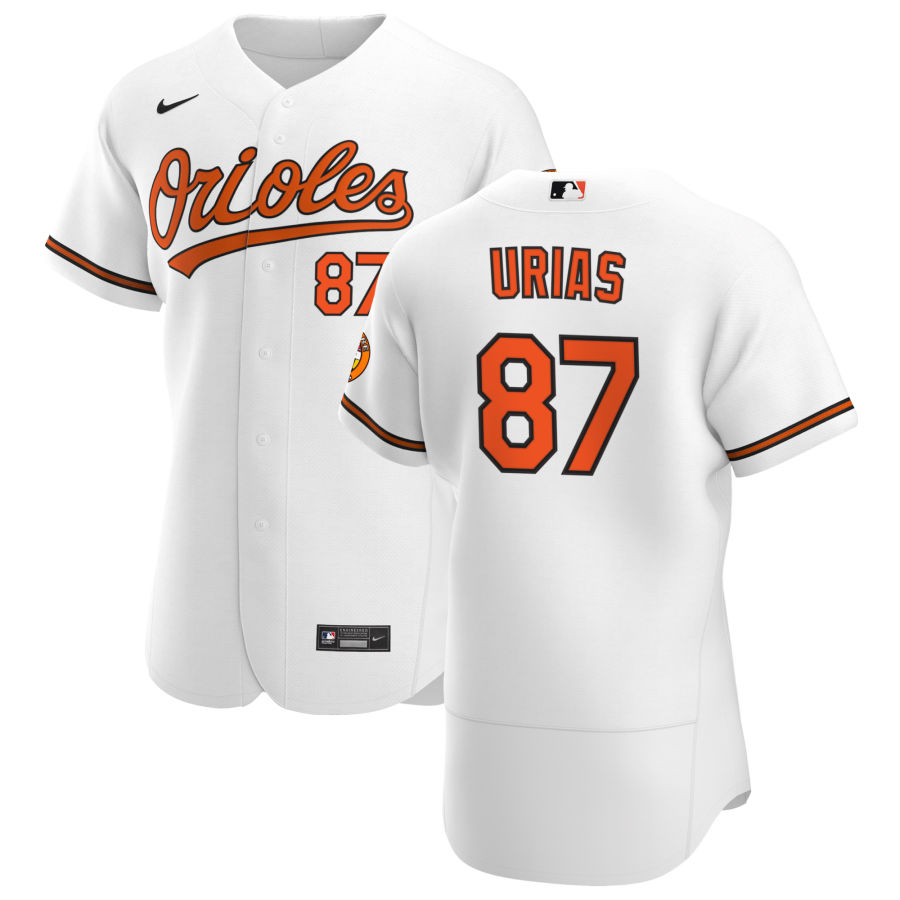 Wholesale Baltimore Orioles 87 Ramon Urias Men Nike White Home 2020 Authentic Player MLB Jersey