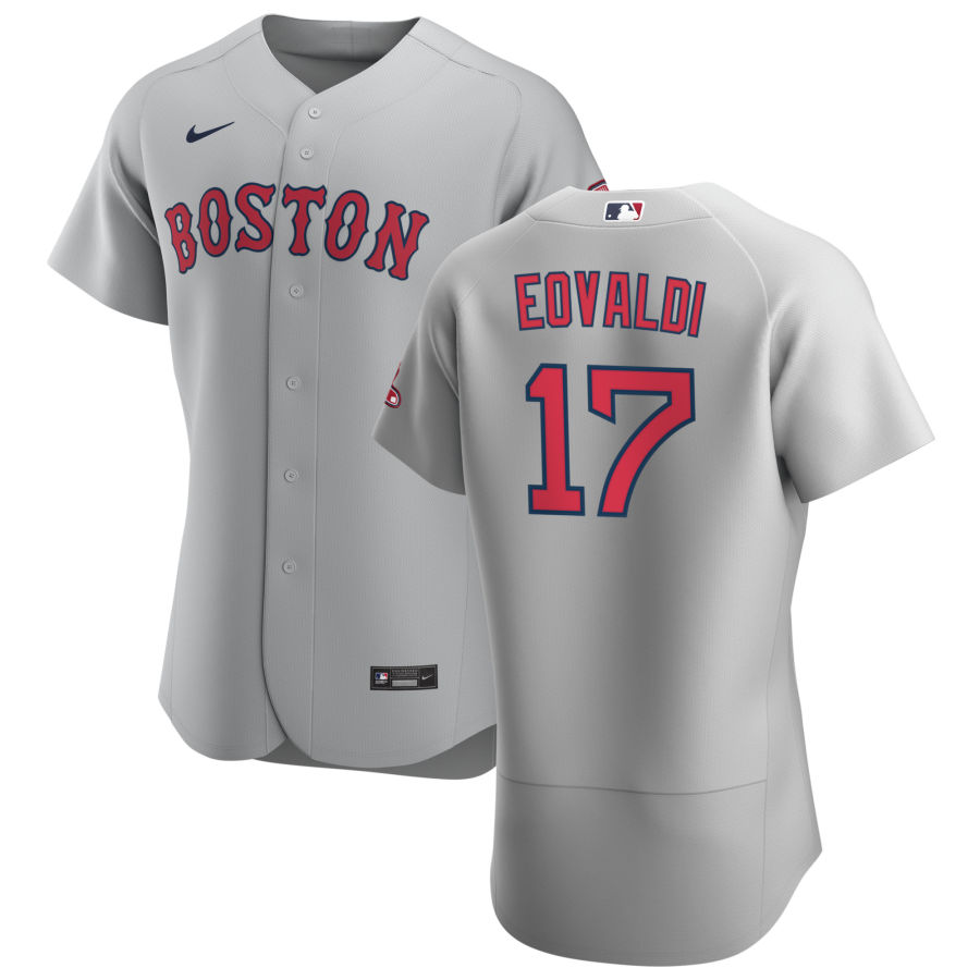Boston Red Sox 17 Nathan Eovaldi Men Nike Gray Road 2020 Authentic Team MLB Jersey