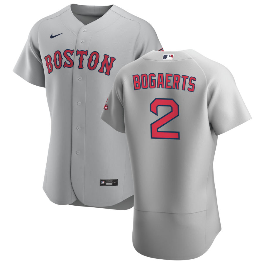 Boston Red Sox 2 Xander Bogaerts Men Nike Gray Road 2020 Authentic Team MLB Jersey