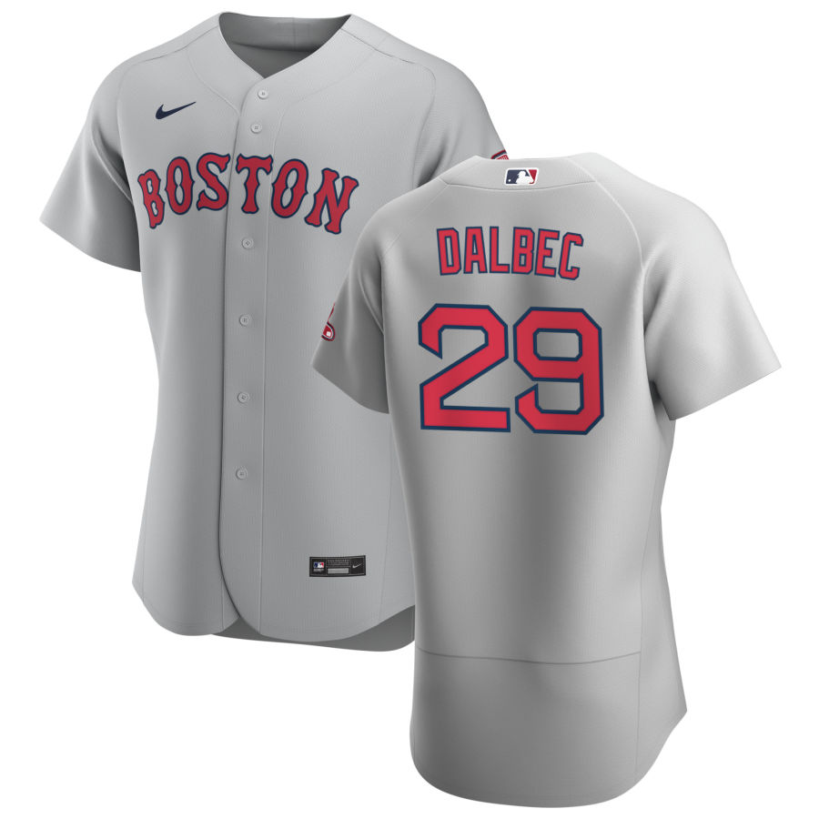 Boston Red Sox 29 Bobby Dalbec Men Nike Gray Road 2020 Authentic Team MLB Jersey