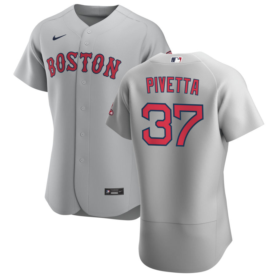 Boston Red Sox 37 Nick Pivetta Men Nike Gray Road 2020 Authentic Team MLB Jersey