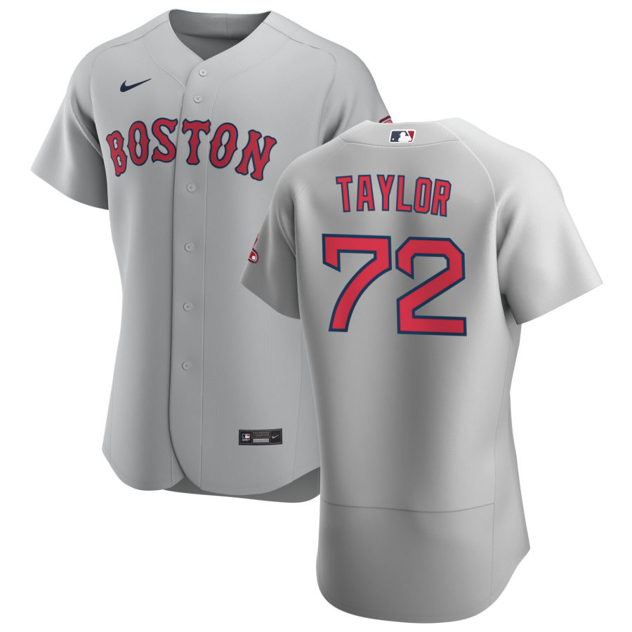 Boston Red Sox 72 Josh Taylor Men Nike Gray Road 2020 Authentic Team MLB Jersey