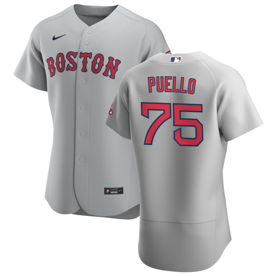 Boston Red Sox 75 Cesar Puello Men Nike Gray Road 2020 Authentic Team MLB Jersey