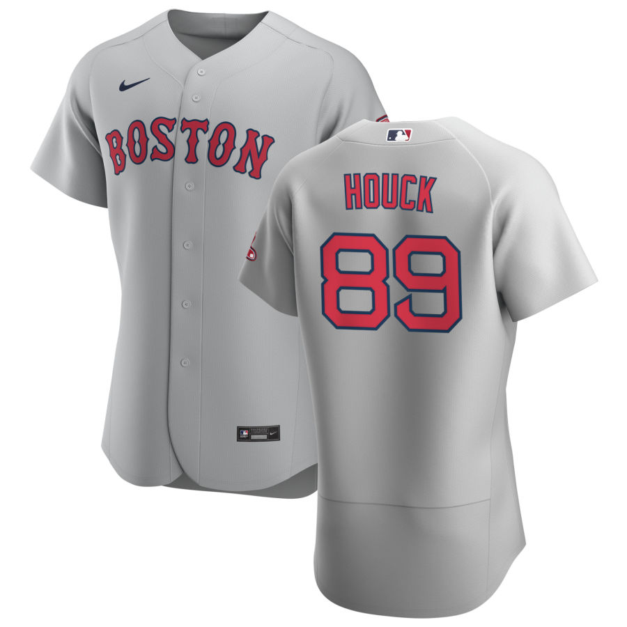 Boston Red Sox 89 Tanner Houck Men Nike Gray Road 2020 Authentic Team MLB Jersey