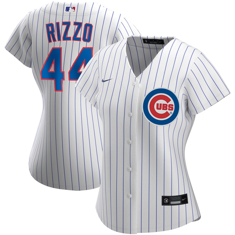 Cheap Chicago Cubs 44 Anthony Rizzo Nike Women Home 2020 MLB Player Jersey White