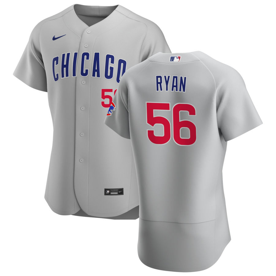 Cheap Chicago Cubs 56 Kyle Ryan Men Nike Gray Road 2020 Authentic Team Jersey