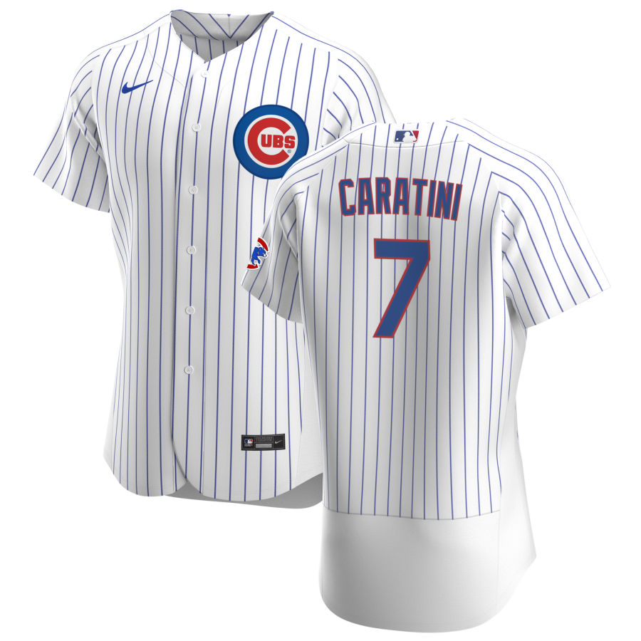 Cheap Chicago Cubs 7 Victor Caratini Men Nike White Home 2020 Authentic Player Jersey