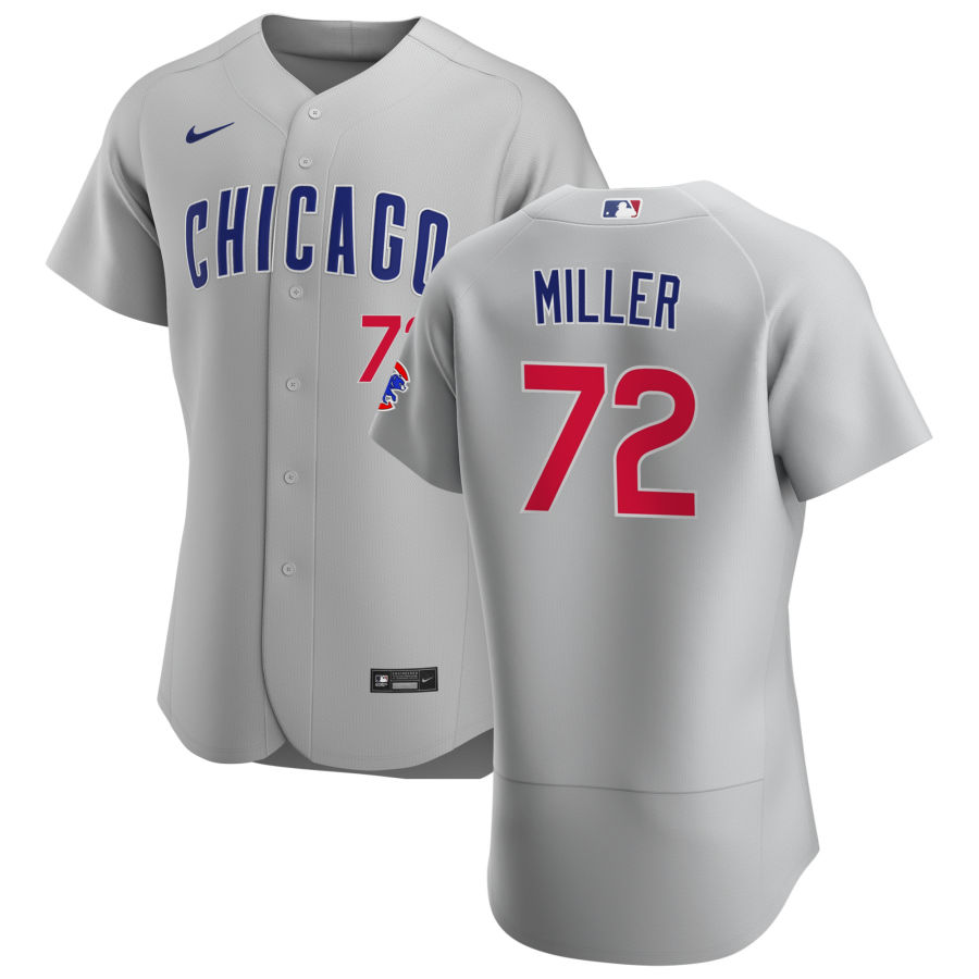 Cheap Chicago Cubs 72 Tyson Miller Men Nike Gray Road 2020 Authentic Team Jersey