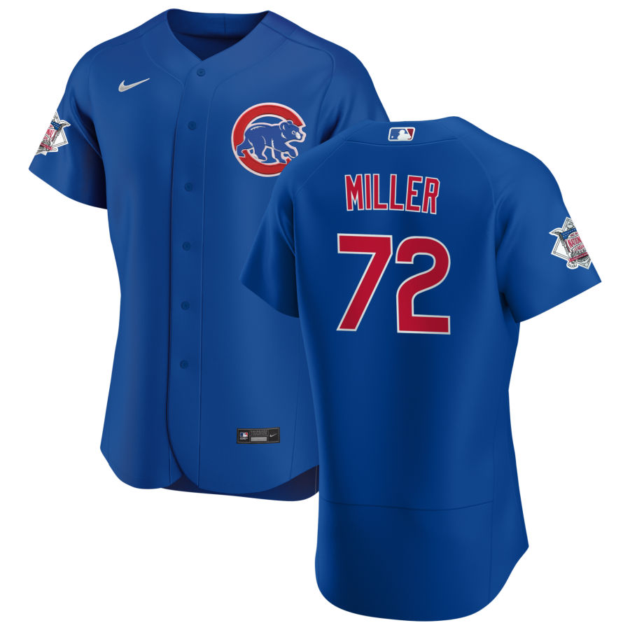 Cheap Chicago Cubs 72 Tyson Miller Men Nike Royal Alternate 2020 Authentic Player Jersey