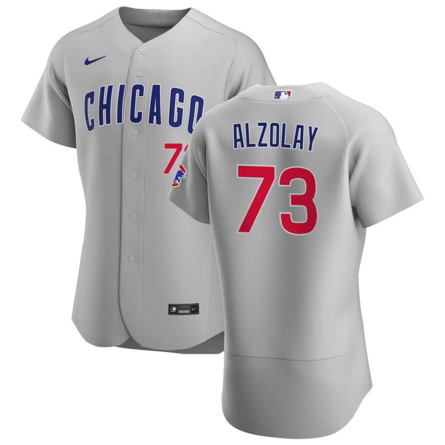 Cheap Chicago Cubs 73 Adbert Alzolay Men Nike Gray Road 2020 Authentic Team Jersey