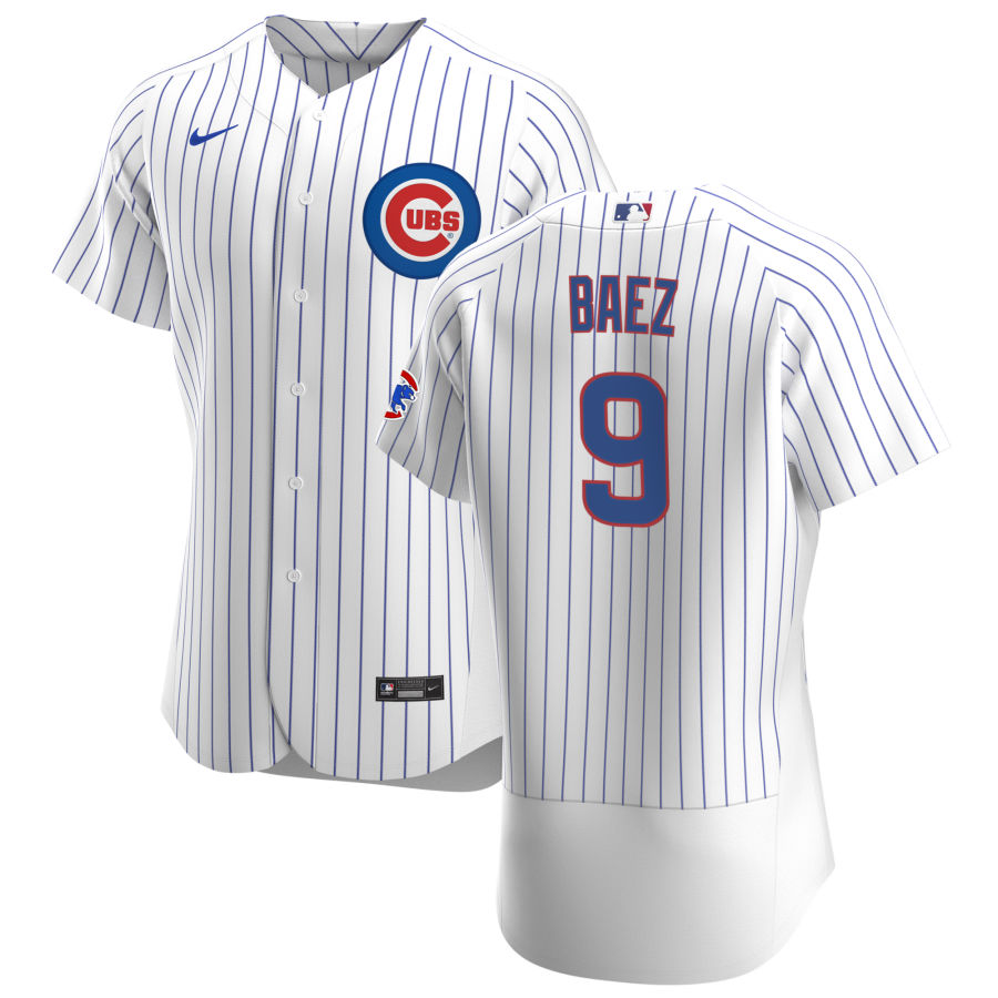 Cheap Chicago Cubs 9 Javier Baez Men Nike White Home 2020 Authentic Player Jersey