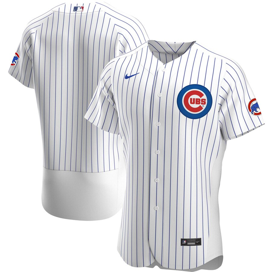 Cheap Chicago Cubs Men Nike White Home 2020 Authentic Official Team MLB Jersey