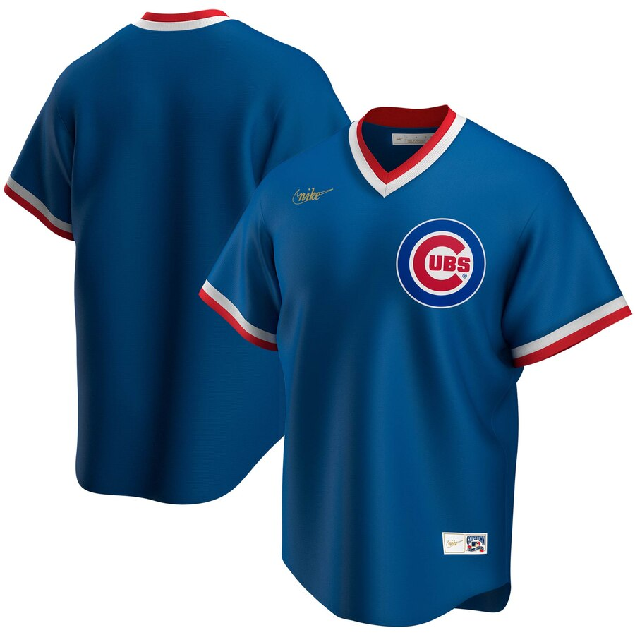 Cheap Chicago Cubs Nike Road Cooperstown Collection Team MLB Jersey Royal