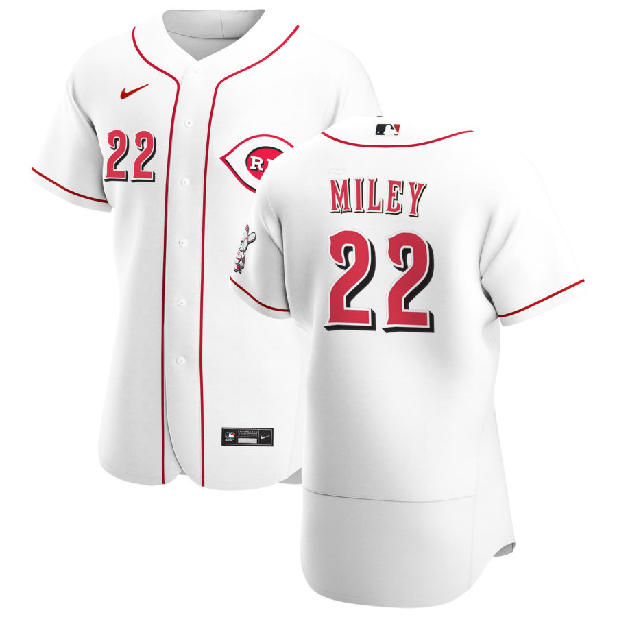 Wholesale Cincinnati Reds 22 Wade Miley Men Nike White Home 2020 Authentic Player MLB Jersey