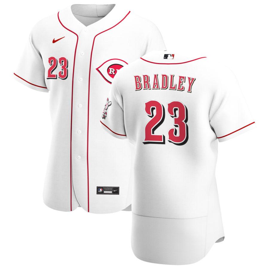 Wholesale Cincinnati Reds 23 Archie Bradley Men Nike White Home 2020 Authentic Player MLB Jersey