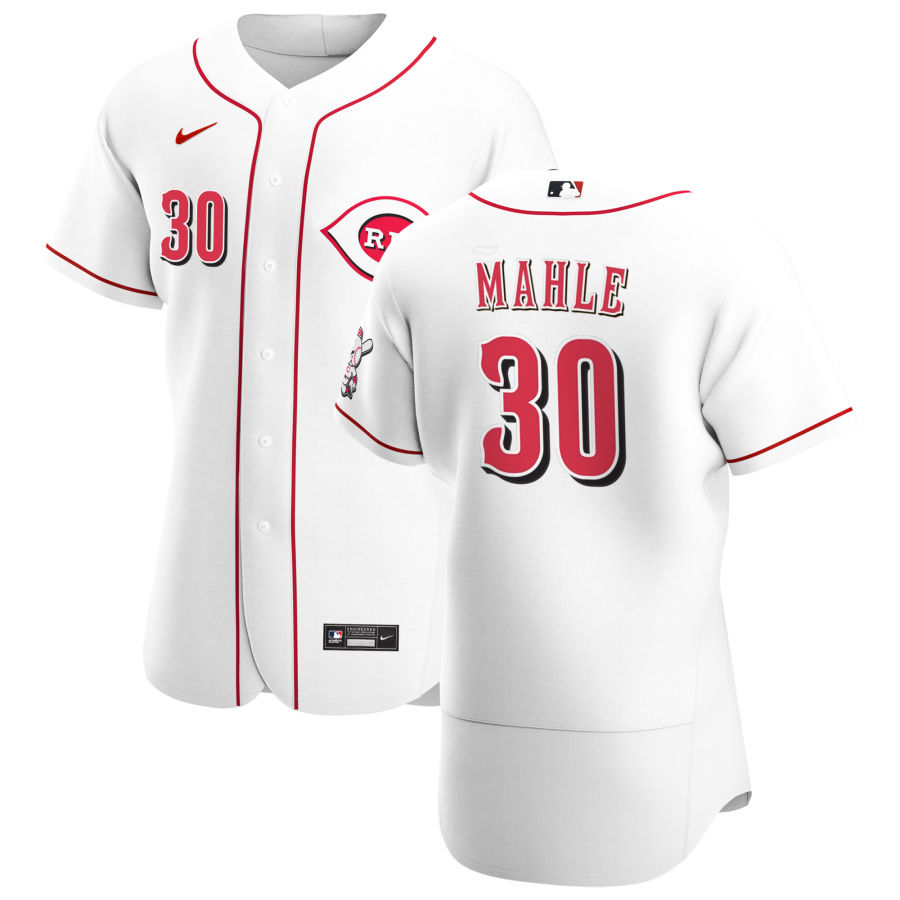 Wholesale Cincinnati Reds 30 Tyler Mahle Men Nike White Home 2020 Authentic Player MLB Jersey