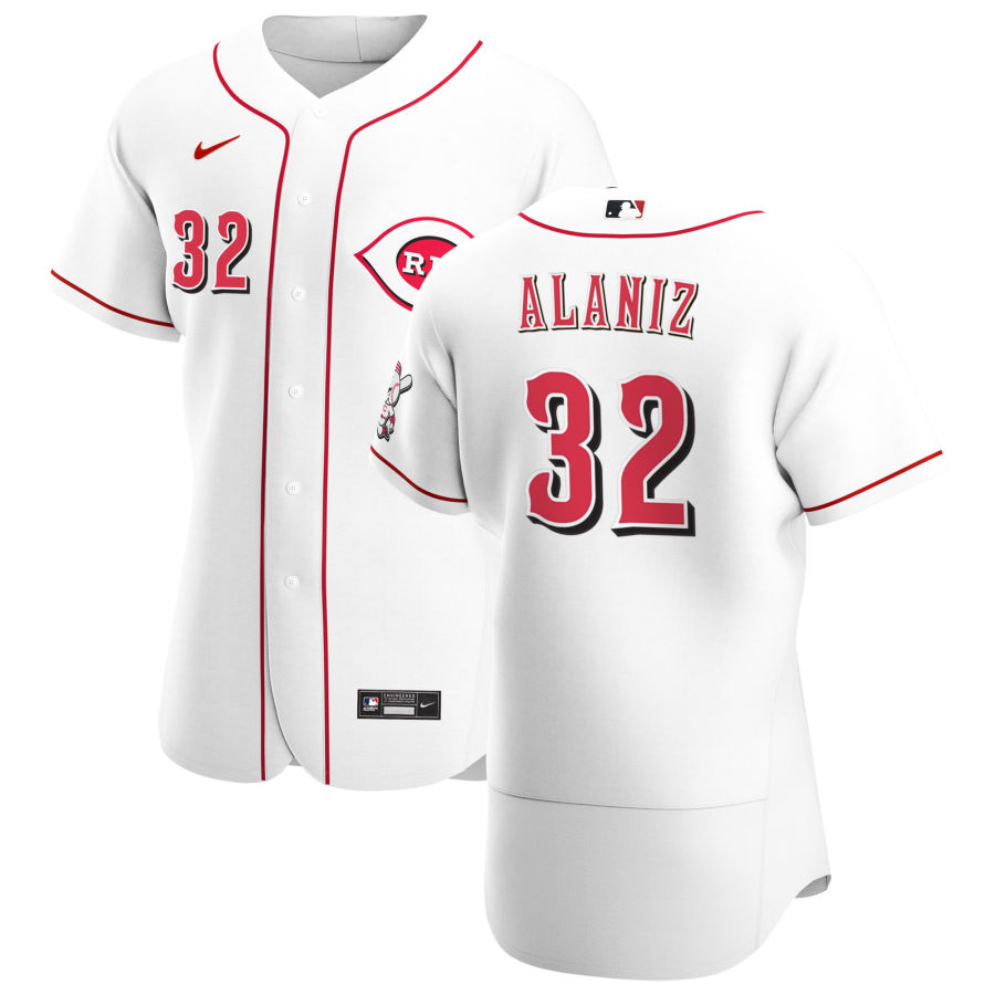 Wholesale Cincinnati Reds 32 R.J. Alaniz Men Nike White Home 2020 Authentic Player MLB Jersey