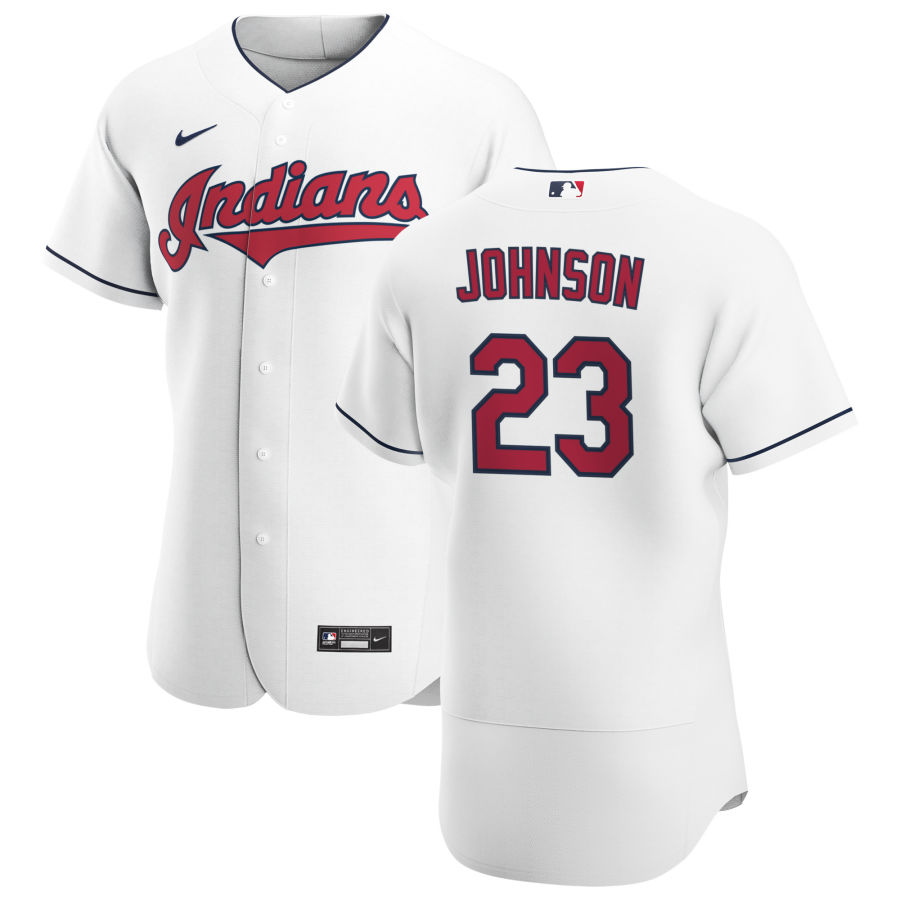 Cheap Cleveland Indians 23 Daniel Johnson Men Nike White Home 2020 Authentic Team MLB Jersey