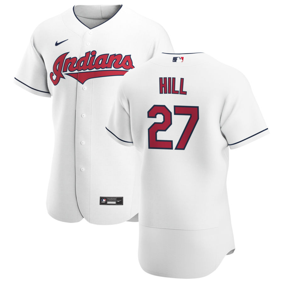 Cheap Cleveland Indians 27 Cam Hill Men Nike White Home 2020 Authentic Team MLB Jersey