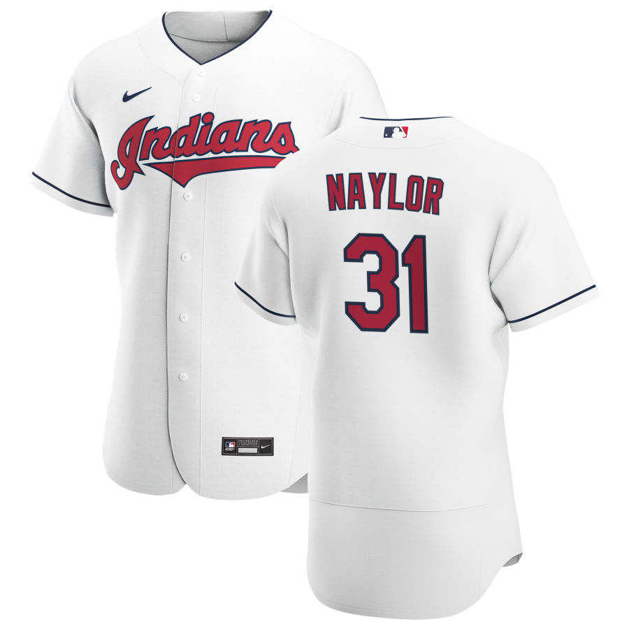 Cheap Cleveland Indians 31 Josh Naylor Men Nike White Home 2020 Authentic Team MLB Jersey