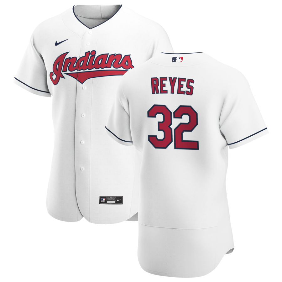 Cheap Cleveland Indians 32 Franmil Reyes Men Nike White Home 2020 Authentic Team MLB Jersey