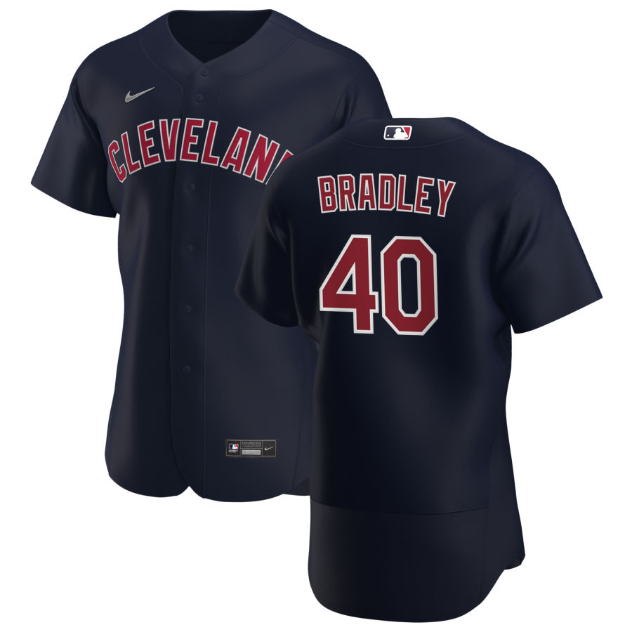 Cheap Cleveland Indians 40 Bobby Bradley Men Nike Navy Alternate 2020 Authentic Player MLB Jersey
