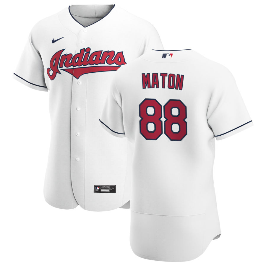 Cheap Cleveland Indians 88 Phil Maton Men Nike White Home 2020 Authentic Team MLB Jersey