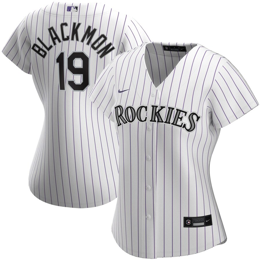 Wholesale Colorado Rockies 19 Charlie Blackmon Nike Women Home 2020 MLB Player Jersey White