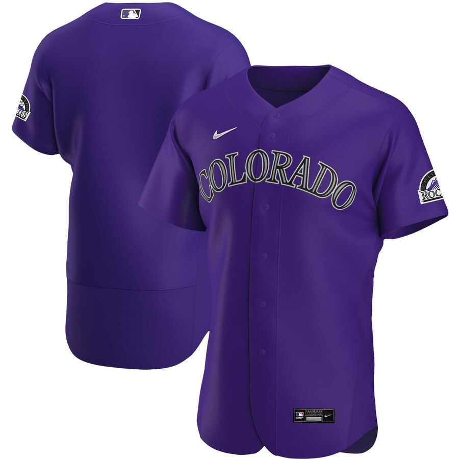 Wholesale Colorado Rockies Men Nike Purple Alternate 2020 Authentic Team MLB Jersey