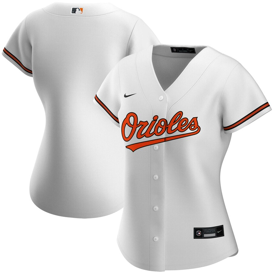 Wholesale Custom Baltimore Orioles Nike Women Home 2020 MLB Team Jersey White