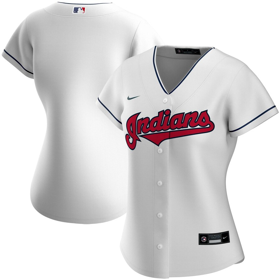 Cheap Custom Cleveland Indians Nike Women Home 2020 MLB Team Jersey White