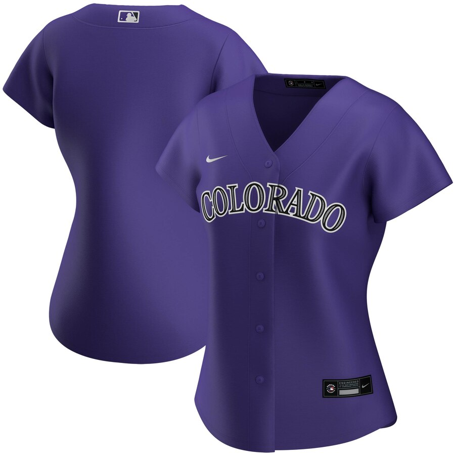Wholesale Custom Colorado Rockies Nike Women Alternate 2020 MLB Team Jersey Purple