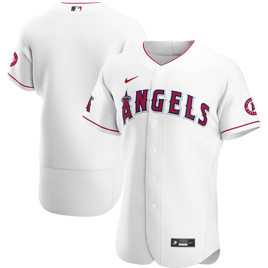Wholesale Custom Los Angeles Angels Men Nike White Home 2020 Authentic Team MLB Jersey
