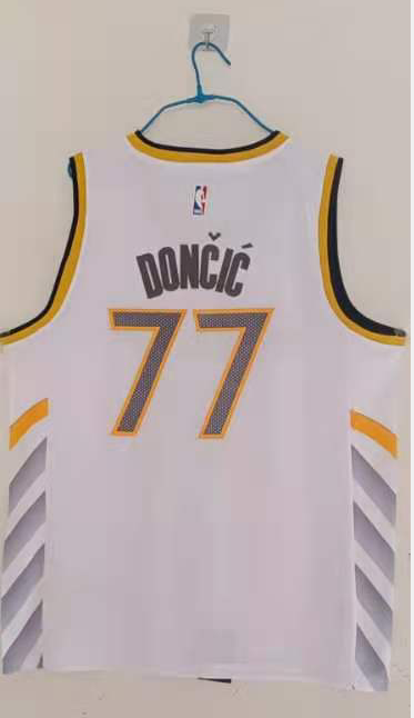 Wholesale Dallas Mavericks 77 Doncic Men Adidas White city Edition Limited Stitched NBA Jersey