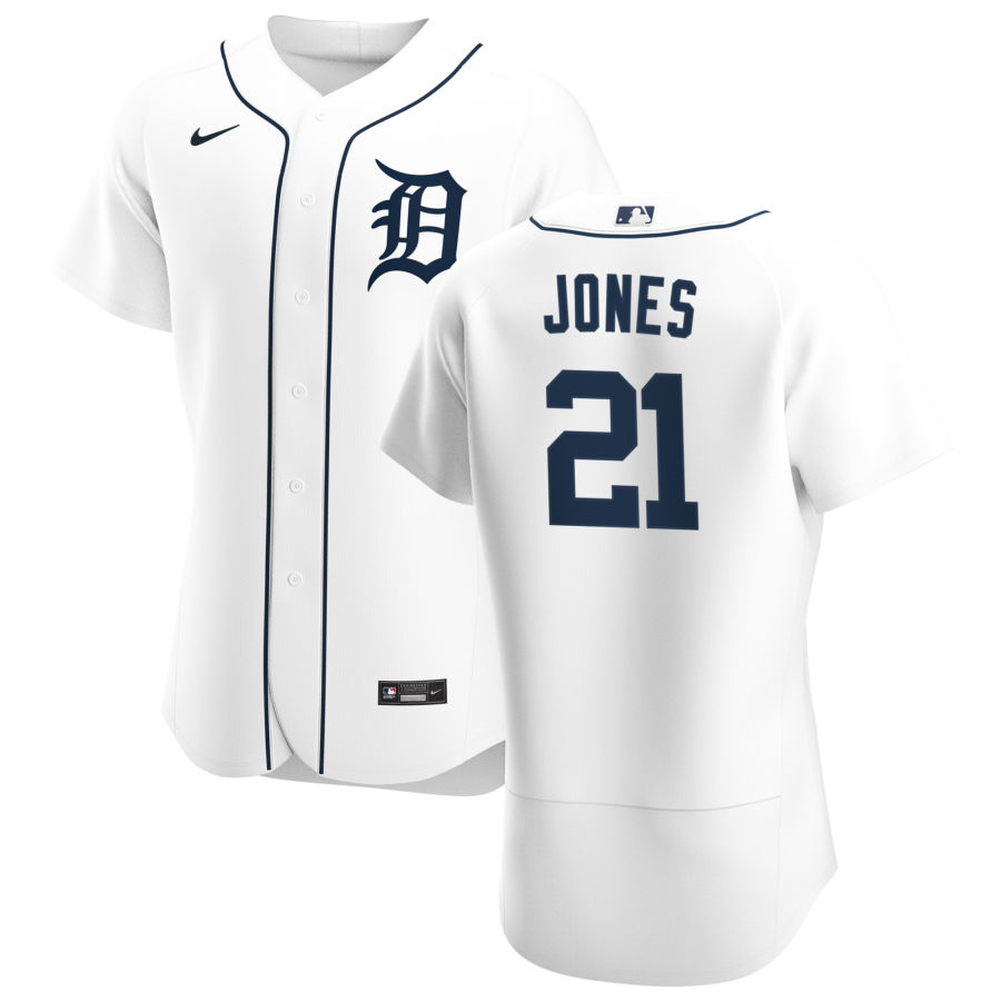 Cheap Detroit Tigers 21 JaCoby Jones Men Nike White Home 2020 Authentic Player MLB Jersey