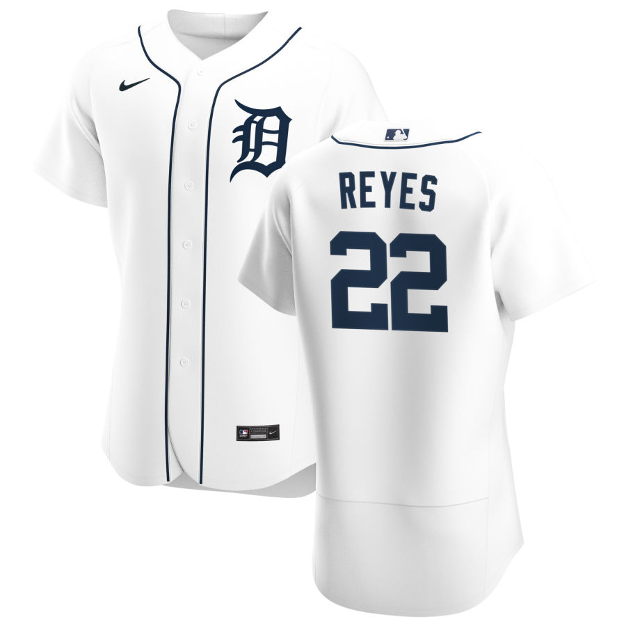 Cheap Detroit Tigers 22 Victor Reyes Men Nike White Home 2020 Authentic Player MLB Jersey