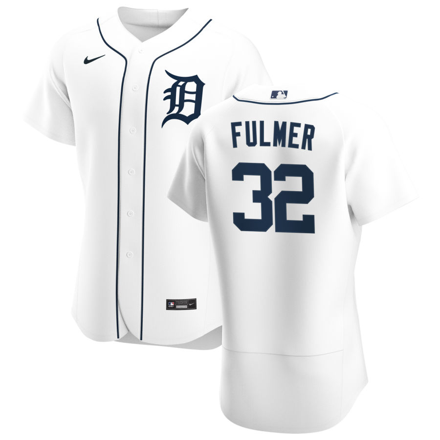 Cheap Detroit Tigers 32 Michael Fulmer Men Nike White Home 2020 Authentic Player MLB Jersey
