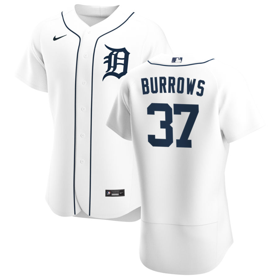 Cheap Detroit Tigers 37 Beau Burrows Men Nike White Home 2020 Authentic Player MLB Jersey