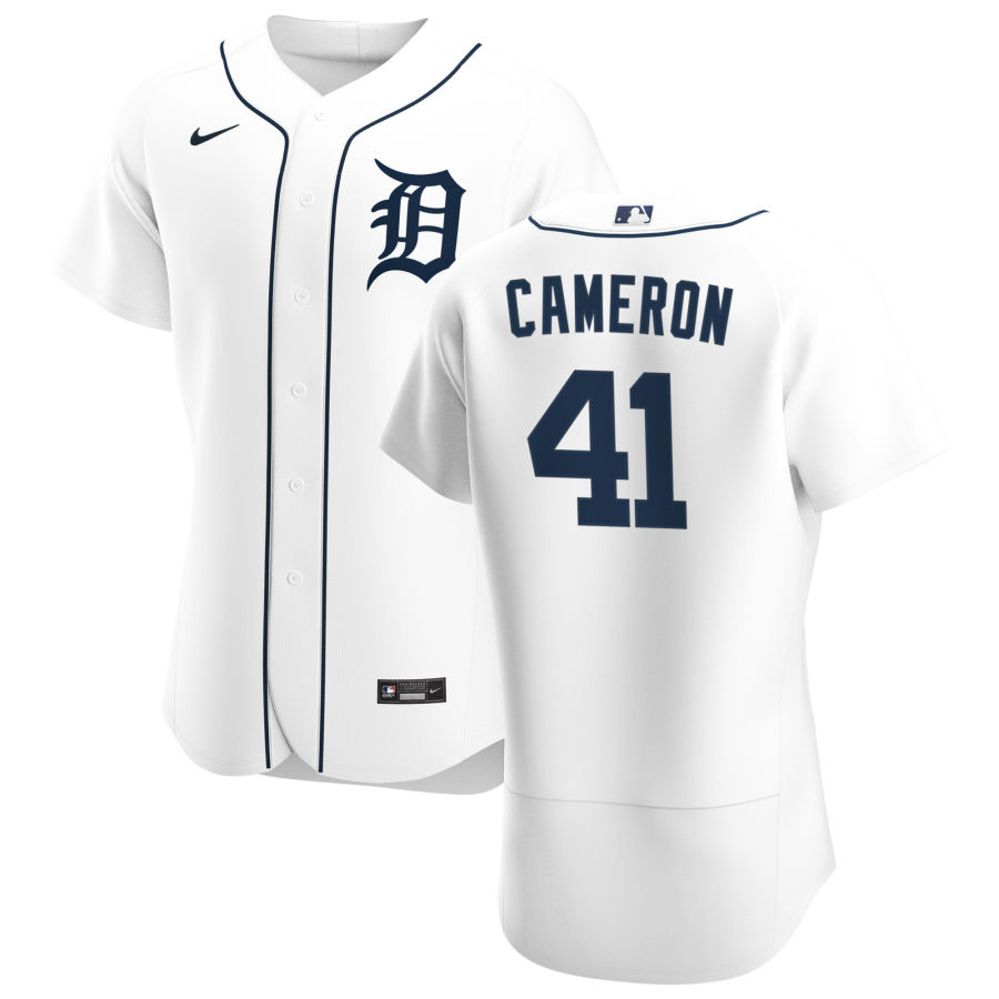 Cheap Detroit Tigers 41 Daz Cameron Men Nike White Home 2020 Authentic Player MLB Jersey