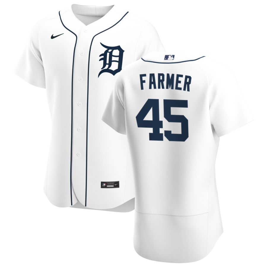 Cheap Detroit Tigers 45 Buck Farmer Men Nike White Home 2020 Authentic Player MLB Jersey